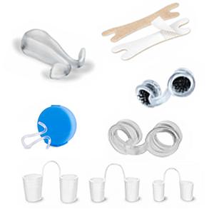 Auswahl an Nasenspreizer, Nasendilatator und Nasenklammer