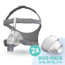 Fisher & Paykel Eson CPAP Nasenmaske getragen